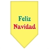 Mirage Pet Products Feliz Navidad Screen Print Bandana Yellow Large
