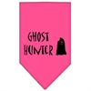 Mirage Pet Products Ghost Hunter Screen Print Bandana Bright Pink Small