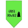 Mirage Pet Products Ghost Hunter Screen Print Bandana Lime Green Small