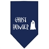 Mirage Pet Products Ghost Hunter Screen Print Bandana Navy Blue large