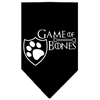 Mirage Pet Products Game of Bones Screen Print Bandana Black Large