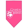 Mirage Pet Products Game of Bones Screen Print Bandana Bright Pink Large