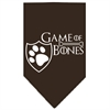 Mirage Pet Products Game of Bones Screen Print Bandana Brown Large