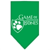 Mirage Pet Products Game of Bones Screen Print Bandana Emerald Green Small
