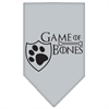 Mirage Pet Products Game of Bones Screen Print Bandana Grey Small