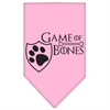 Mirage Pet Products Game of Bones Screen Print Bandana Light Pink Small
