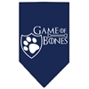 Mirage Pet Products Game of Bones Screen Print Bandana Navy Blue Small