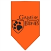 Mirage Pet Products Game of Bones Screen Print Bandana Orange Small