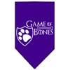 Mirage Pet Products Game of Bones Screen Print Bandana Purple Large