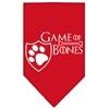 Mirage Pet Products Game of Bones Screen Print Bandana Red Small