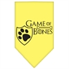 Mirage Pet Products Game of Bones Screen Print Bandana Yellow Small