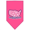 Mirage Pet Products God Bless USA Screen Print Bandana Bright Pink Small