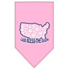 Mirage Pet Products God Bless USA Screen Print Bandana Light Pink Small