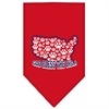 Mirage Pet Products God Bless USA Screen Print Bandana Red Large