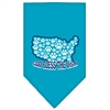 Mirage Pet Products God Bless USA Screen Print Bandana Turquoise Large