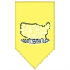 Mirage Pet Products God Bless USA Screen Print Bandana Yellow Large
