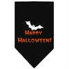 Mirage Pet Products Happy Halloween Screen Print Bandana Black Large