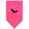 Mirage Pet Products Happy Halloween Screen Print Bandana Bright Pink Small
