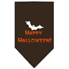 Mirage Pet Products Happy Halloween Screen Print Bandana Cocoa Large
