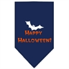 Mirage Pet Products Happy Halloween Screen Print Bandana Navy Blue large