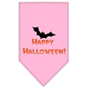 Mirage Pet Products Happy Halloween Screen Print Bandana Light Pink Large