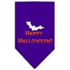 Mirage Pet Products Happy Halloween Screen Print Bandana Purple Large