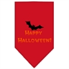 Mirage Pet Products Happy Halloween Screen Print Bandana Red Large