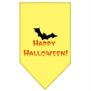 Mirage Pet Products Happy Halloween Screen Print Bandana Yellow Small