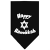 Mirage Pet Products Happy Hanukkah Screen Print Bandana Black Large