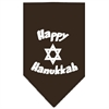 Mirage Pet Products Happy Hanukkah Screen Print Bandana Cocoa Large
