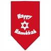 Mirage Pet Products Happy Hanukkah Screen Print Bandana Red Small