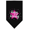 Mirage Pet Products Scribble Happy Holidays Screen Print Bandana Black Large