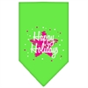 Mirage Pet Products Scribble Happy Holidays Screen Print Bandana Lime Green Small