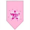 Mirage Pet Products Scribble Happy Holidays Screen Print Bandana Light Pink Small