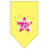 Mirage Pet Products Scribble Happy Holidays Screen Print Bandana Yellow Small