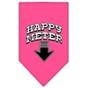 Mirage Pet Products Happy Meter Screen Print Bandana Bright Pink Small