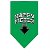 Mirage Pet Products Happy Meter Screen Print Bandana Emerald Green Small