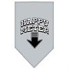 Mirage Pet Products Happy Meter Screen Print Bandana Grey Small