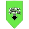 Mirage Pet Products Happy Meter Screen Print Bandana Lime Green Large