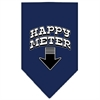 Mirage Pet Products Happy Meter Screen Print Bandana Navy Blue Small