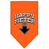 Mirage Pet Products Happy Meter Screen Print Bandana Orange Large