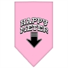 Mirage Pet Products Happy Meter Screen Print Bandana Light Pink Small