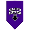 Mirage Pet Products Happy Meter Screen Print Bandana Purple Large