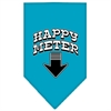 Mirage Pet Products Happy Meter Screen Print Bandana Turquoise Large