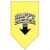 Mirage Pet Products Happy Meter Screen Print Bandana Yellow Large