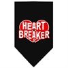 Mirage Pet Products Heart Breaker Screen Print Bandana Black Large
