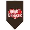 Mirage Pet Products Heart Breaker Screen Print Bandana Cocoa Large