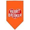 Mirage Pet Products Heart Breaker Screen Print Bandana Orange Large