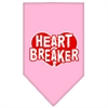 Mirage Pet Products Heart Breaker Screen Print Bandana Light Pink Small
