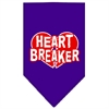 Mirage Pet Products Heart Breaker Screen Print Bandana Purple Small